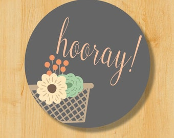 Hooray Stickers | Bridal Stickers | Wedding Sticker Labels | Wedding Stickers for Favors | Congratulations labels | Congrats stickers