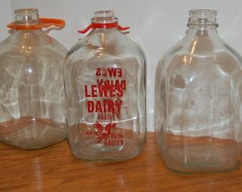 Choice Vintage Glass Milk Jar,  Gallon Milk Jug, Dairy Jar, Handled Milk Jar, Farm House Decor, Glass Milk Jar