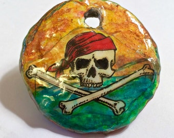 Pirate Pendant Air Dry Paper Clay
