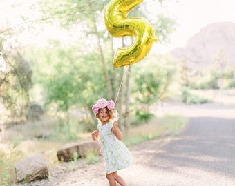 Number 0-9>>>>>> 40 inch gold mylar number balloons