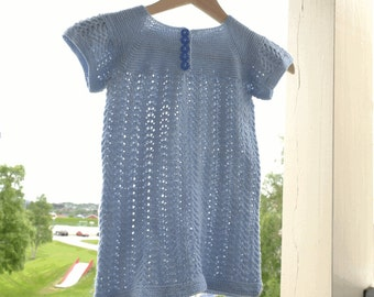 Blue lacy childs top