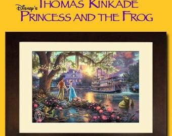 DISNEY KINKADE PRINT - Princess and the Frog