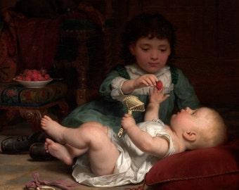 "Seymour Joseph Guy : ""Temptation"" (c1884) - Giclee Fine Art Print"
