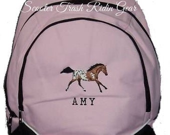 FREE SHIPPING - Appaloosa Horse   Personalized Monogrammed Backpack Book Bag school tote  - NEW