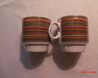 2 Caribou Coffee Mugs with Saucers