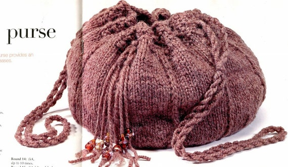 Knitting BAGS & PURSES EASY Knit Pattern Book 7 Projects