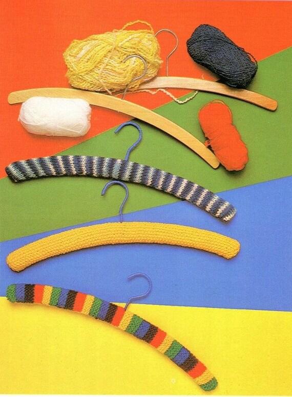 Knitting Coat Hangers : Knitting covered coat hangers pattern wooden