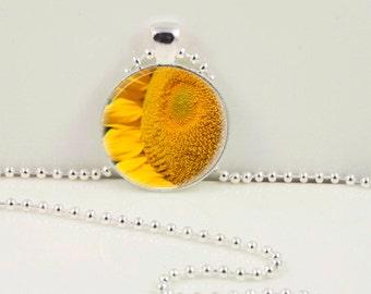 Sunflower Macro Pendant