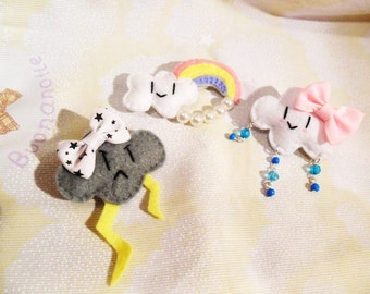 Sweet lolita, decora cloud hair clip