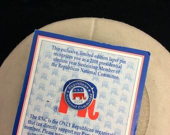 Vintage Presidential Election Lapel Pin On Original Card
