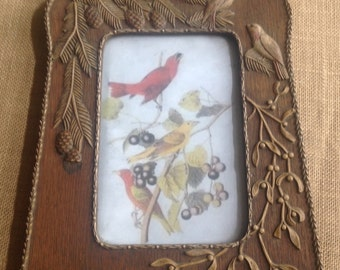 Charming Forest Themed Antique Picture Frame