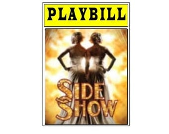 Theater / Show Charm - Playbill  - Side Show