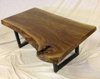live edge walnut coffee table 38