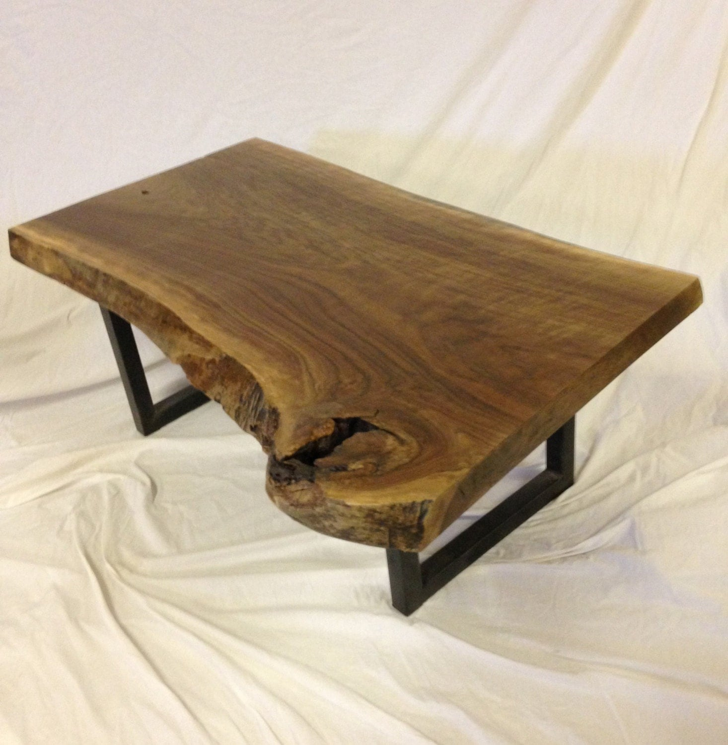 Live edge coffee table live edge table wood slab table for How to finish a wood slab