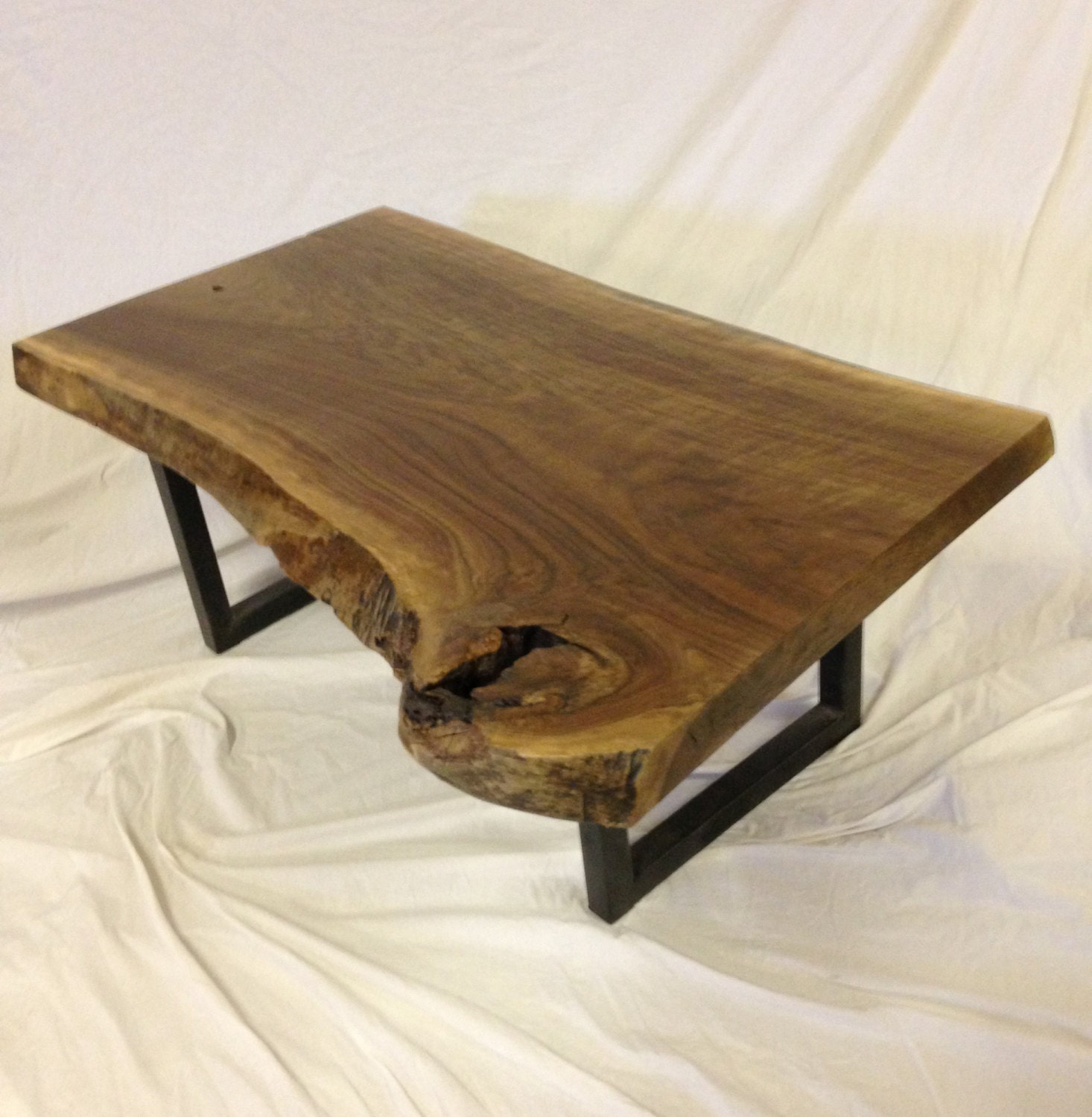 Live edge coffee table live edge table wood slab table for Wood slab coffee table