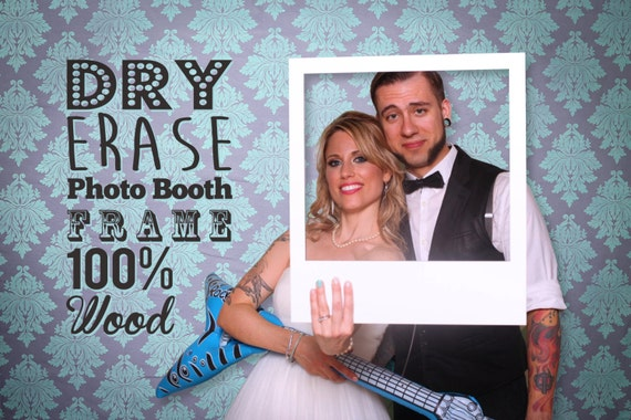 wedding photobooth props dry erase photo frame for wedding photo booths write a message