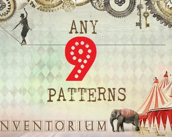 Choose ANY 9 patterns