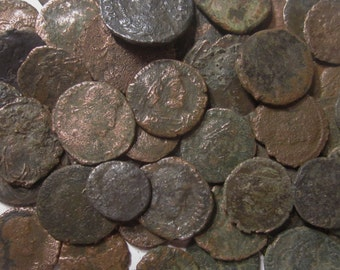Four (4) Authentic Roman Coins Over 1500 Years Old For One Price - Mixed Sizes