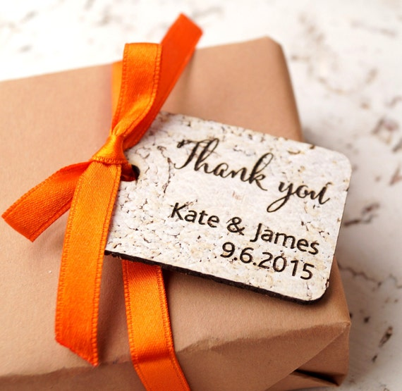 Wedding Favor Tags Rustic : Rustic wedding favor tags, personalized favor tags, custom thank you ...