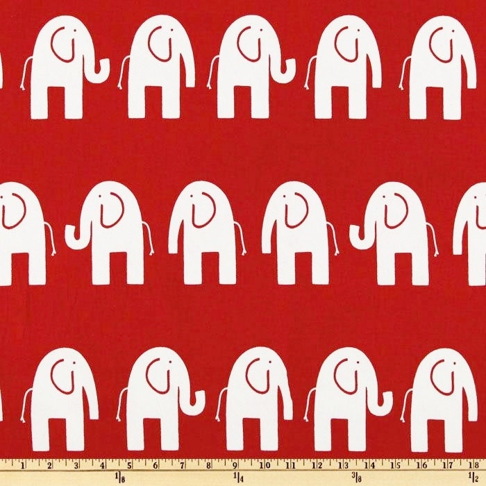 Red Elephant Fabric By The Yard Premier Prints Home Decor Upholstery Ele Lipstick On White