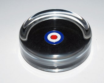 Target Roundel Glass Paperweight. Gift Boxed. Mod/RAF Gift