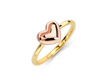 14K Two-Tone Heart Ring, Heart Ring, Heart Jewelry, Gold Ring, Gold Jewelry, Heart, Love, Love Jewelry, Gold, Ring, Gold Heart