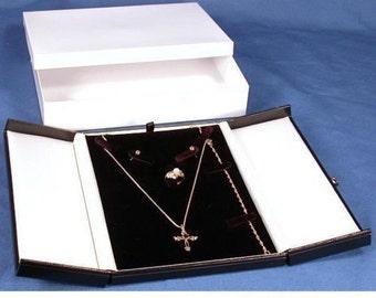 Black & White Earring Ring Necklace Bracelet Combo Gift Box Display