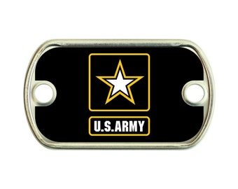 Army 2 Holes Stainless Steel Mini Dog Tag For Paracord Bracelets