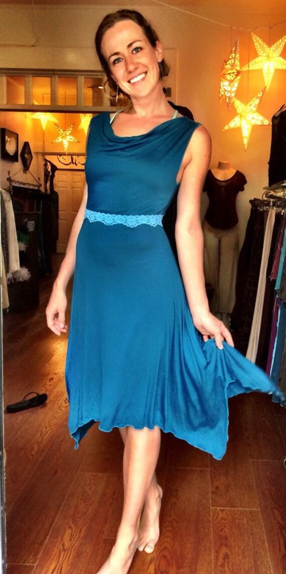 Sweetheart Dress-turquoise temptation