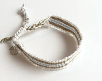 "SALE Charity Bracelet to Educate Children, Friendship Style, Ethical & Fair Trade, ""Sandy Beaches"""
