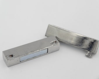 Magnetic Bar Clasp 37x19 mm  Silver