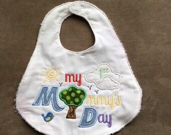 Baby's First Handmade Bib - My 1st Mother's Day