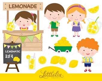 Lemonade clipart - Summer clipart - Lemon clipart - 15016