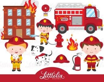 Firefighter clipart - Fire clipart - 1521