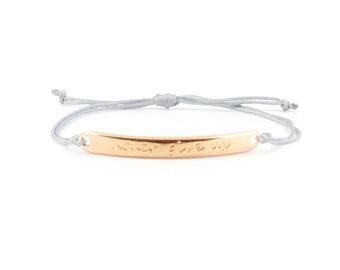 Never give up bracelet rosegold - rose gold mix and match bracelet - armcandy - armpart- rose gold bracelet