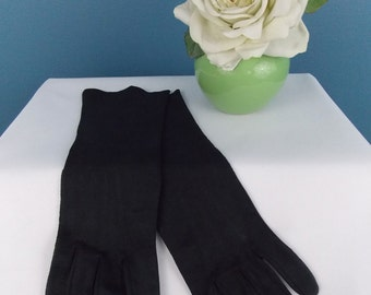 Black Cotton Gloves 3/4 Length Small to Medium **Mint**