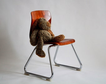 Thur up Seat childrens chair, formwood, 70s, vintage, school, Germany