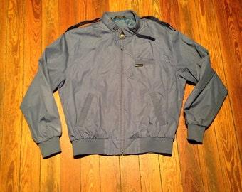 Vintage Members Only mens jacket.  Authentic. Grey/blue. Medium