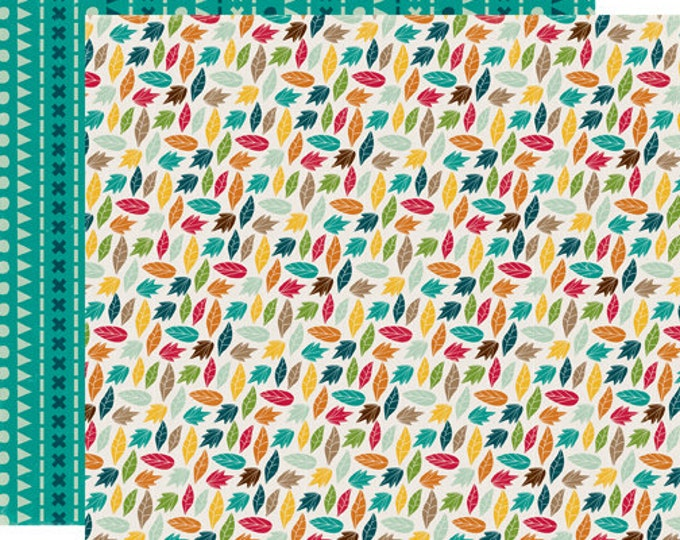 2 Sheets of Echo Park Paper HAPPY CAMPER 12x12 Camping Theme Scrapbook Paper - Leaf it to Me