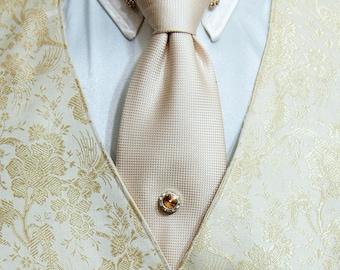 Crystal Magnetic Tie Tack, Men's Tie Accessories, Men's Accessories, Necktie Accessories, Formal, Cruise, Wedding, Prom