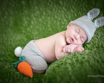 knit bunny photo props