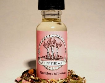 Goddess of Power Oil for Empowerment, Charisma, Strength, Control: Hoodoo Voodoo Wicca Pagan Conjure