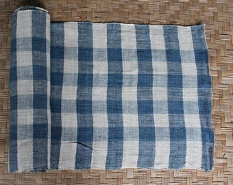 hand woven natural indigo dyed cotton fabric by the meter