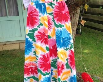 Totally tropical 80's vintage summer skirt