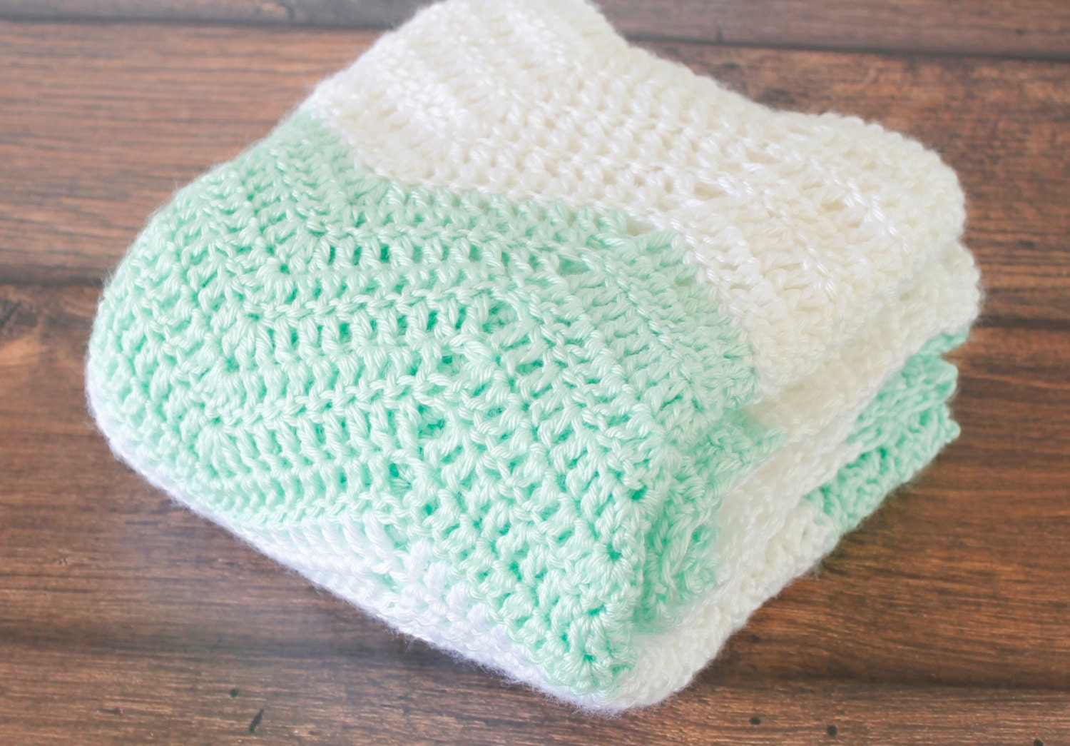 Crochet Striped Chevron Baby Blanket Zig Zag Baby Blanket