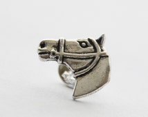 Horse Pin - Horse Tie Clip - Equestrian Gifts for Men - Mens Horse Tie Pin Tack - Equestrian Tie Clips Men - Pony Tie Tack Pin