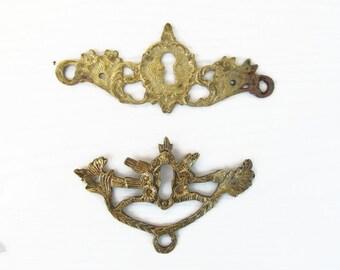 Victorian Keyholes Covers Door Hardware Keyhole Escutcheon Furniture Cast Brass