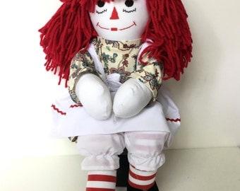 Handcrafted Raggedy Ann Doll