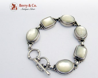 Sterling Silver Bracelet Mother of Pearl