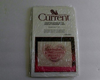 Current counted cross-stitch Card Kit Grandmother 5 inch by 7inch 1988